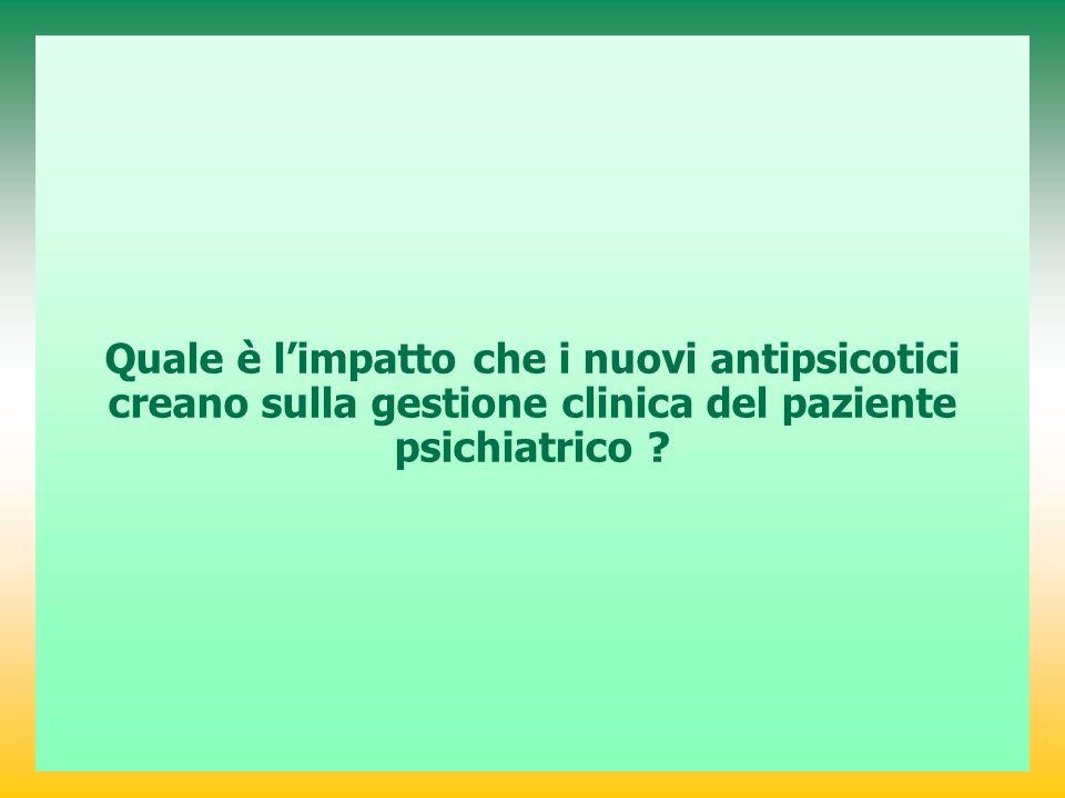 Quale è l'impatto che i nuovi antipsicotici creano sulla gestione clinica del paziente psichiatrico ?