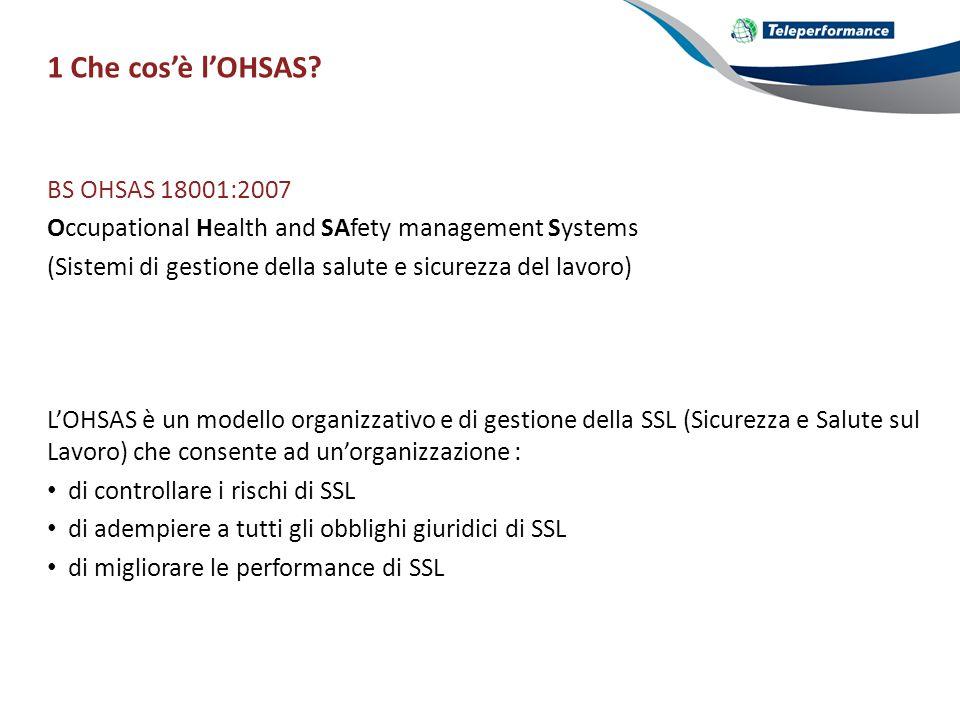 1 Che cos'è l'OHSAS.