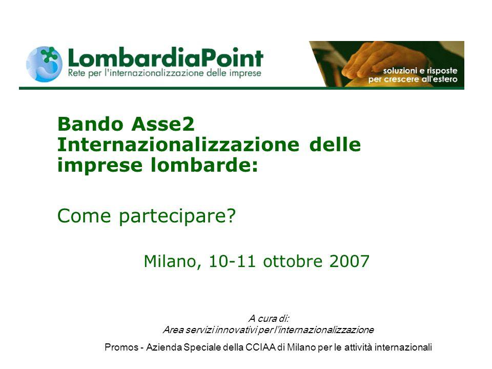 Bando Asse2 Internazionalizzazione delle imprese lombarde: Come partecipare.