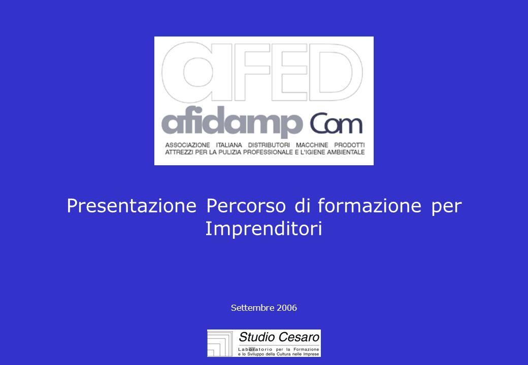Presentazione Percorso di formazione per Imprenditori Settembre 2006