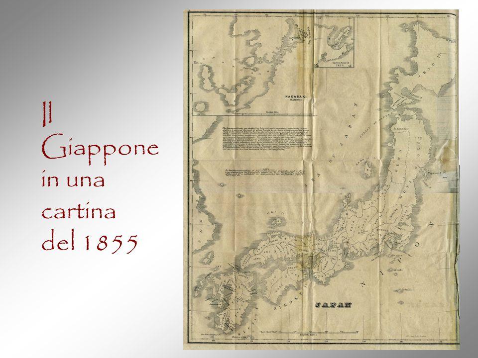 Il Giappone in una cartina del 1855