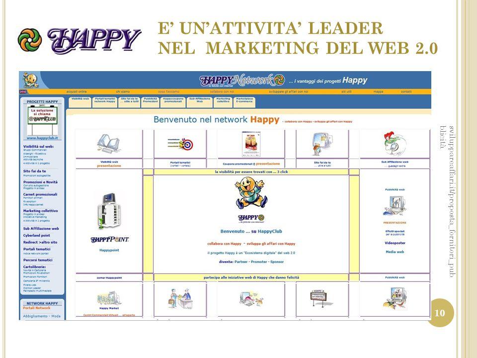 E' UN'ATTIVITA' LEADER NEL MARKETING DEL WEB 2.0 sviluppareaffari.it/proposta_fornitori_pub blicità 10