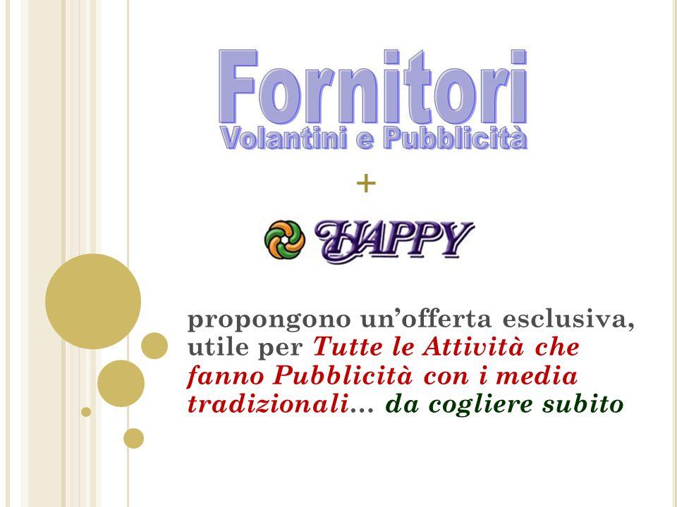 LOCATIONS NETWORK HAPPY DI TUTTI I SETTORI La visibilità permanente viene offerta con la pubblicazione dell'attività sulle locations del Network Happy del tuo settore che puoi vedere ai seguenti indirizzi : PORTALI TEMATICI NETWORK HAPPY: INDICE DELLE ATTIVITA' www.networkhappy.it/domini.htm PAGINE VISIBILITA' NETWORK HAPPY (Landing Pages): INDICE ATTIVITA' www.networkhappy.it/pagine.htm COMUNITA' COMMERCIALI NETWORK HAPPY: www.tuttapubblicita.itwww.tuttapubblicita.it dove gli Internauti ritrovano nel tempo le Pubblicità www.tuttopromozioni.itwww.tuttopromozioni.it dove gli Internauti trovano le Offerte e Promozioni continue www.tuttonovita.itwww.tuttonovita.it dove gli Internauti trovano le Novità, Esclusività, Specialità www.consigliacquisti.it www.consigliacquisti.it dove gli Internauti trovano Informazioni e Consigli dei Vendors www.happymarket.itwww.happymarket.it dove gli Internauti trovano le Offerte delle Attività di vicinato QUI' SI PUBBLICANO LE PAROLE DEL SETTORE CHE INTERESSA sviluppareaffari.it/proposta_fornitori_pub blicità 13