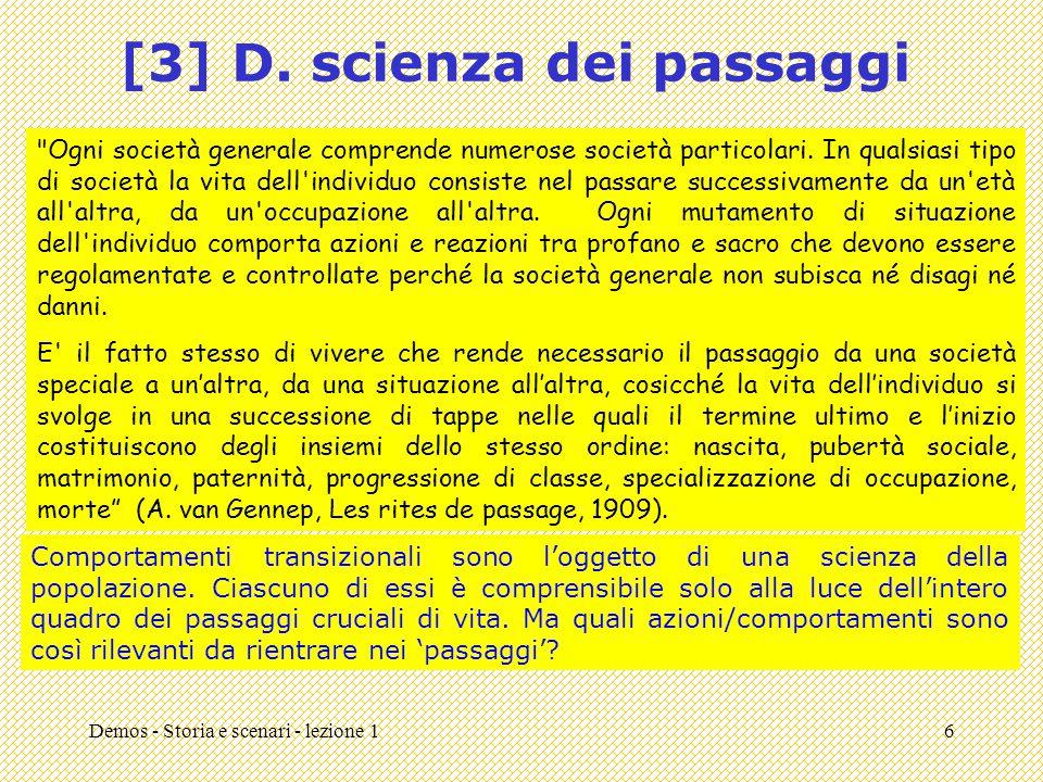 Demos - Storia e scenari - lezione 16 [3] D. scienza dei passaggi