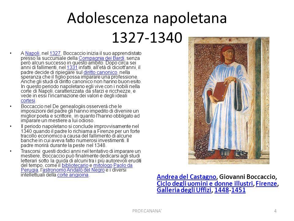 Adolescenza napoletana 1327-1340 Andrea del CastagnoAndrea del Castagno, Giovanni Boccaccio, Ciclo degli uomini e donne illustri, Firenze, Galleria de