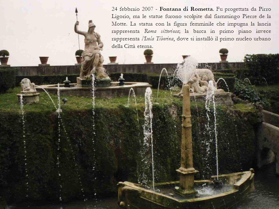 24 febbraio 2007 Fontana dei Draghi