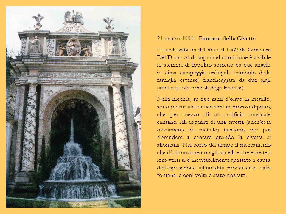 24 febbraio 2007 - Fontana di Rometta. Fu progettata da Pirro Ligorio, ma le statue furono scolpite dal fiammingo Pierre de la Motte. La statua con la