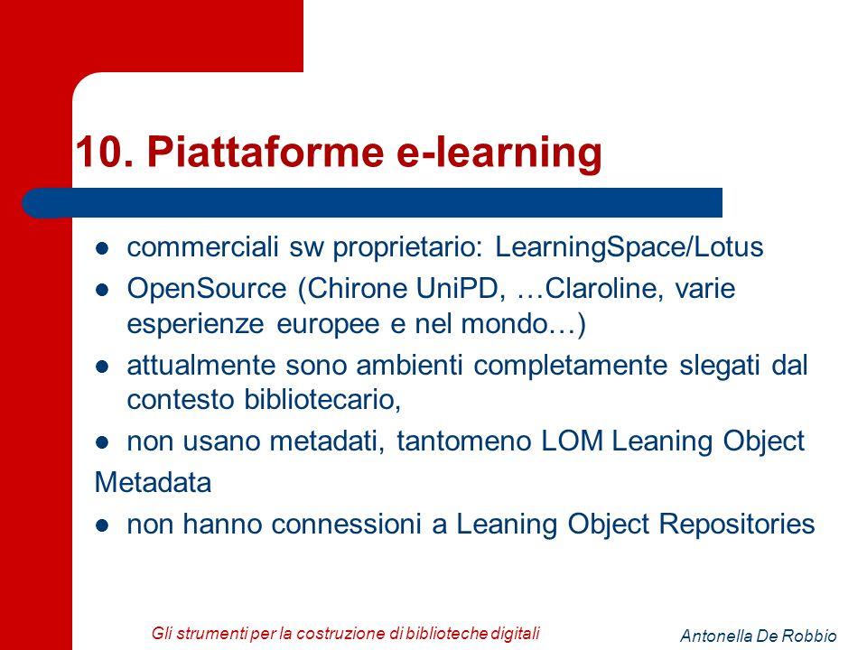 Antonella De Robbio Gli strumenti per la costruzione di biblioteche digitali 10.