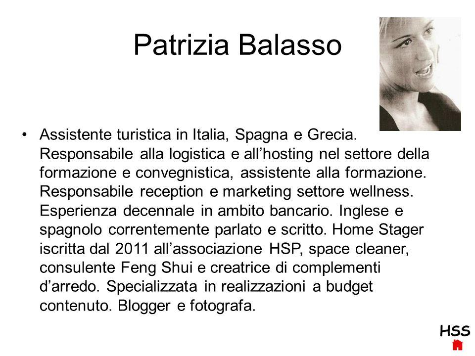 Patrizia Balasso Assistente turistica in Italia, Spagna e Grecia.
