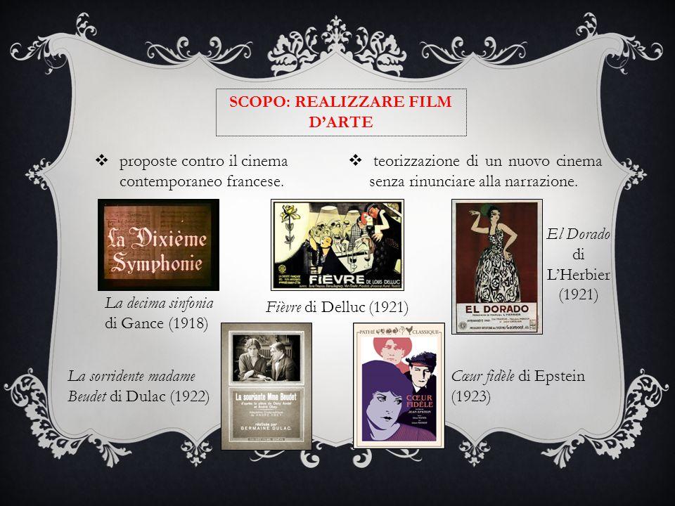 SCOPO: REALIZZARE FILM D'ARTE  proposte contro il cinema contemporaneo francese.  teorizzazione di un nuovo cinema senza rinunciare alla narrazione.