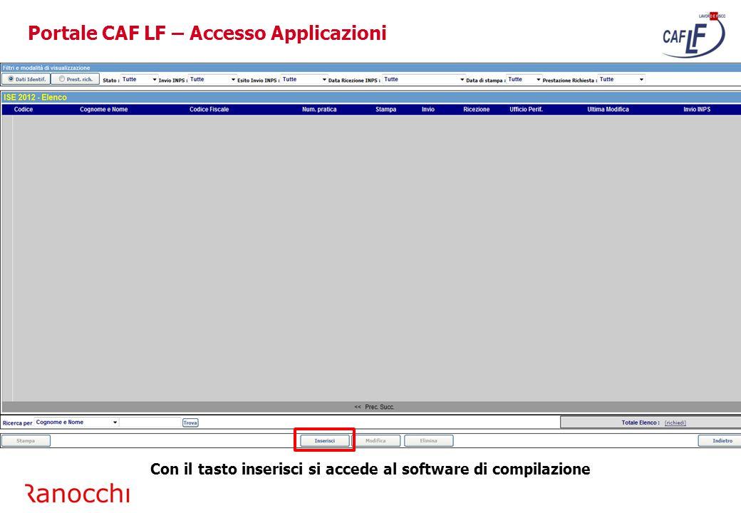 Portale CAF LF – Accesso Area Formazione Per accedere all'area formazione selezionare l'immagine selezionata