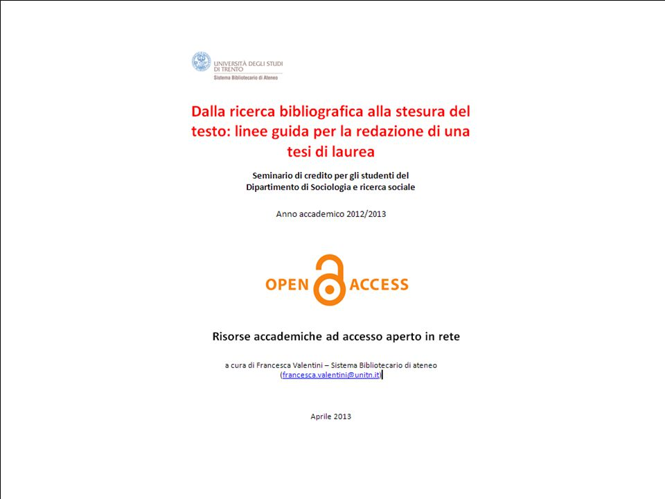 24 aprile 2013DRSBA. Ufficio Anagrafe della ricerca, Archivi istituzionali e supporto attività editoriale 1