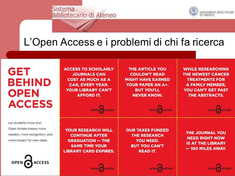 24 aprile 2013DRSBA. Ufficio Anagrafe della ricerca, Archivi istituzionali e supporto attività editoriale 10 L'Open Access e i problemi di chi fa rice