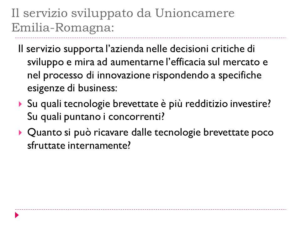 Il servizio sviluppato da Unioncamere Emilia-Romagna: Il servizio supporta l'azienda nelle decisioni critiche di sviluppo e mira ad aumentarne l'effic