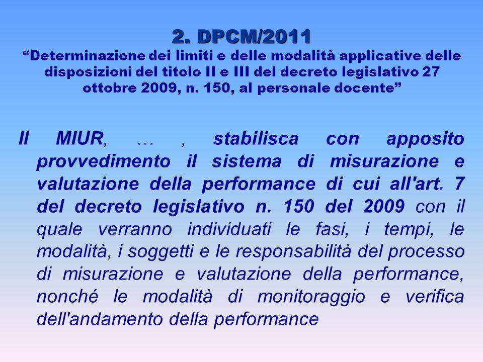 """2. DPCM/2011 2. DPCM/2011 """"Determinazione dei limiti e delle modalità applicative delle disposizioni del titolo II e III del decreto legislativo 27 ot"""