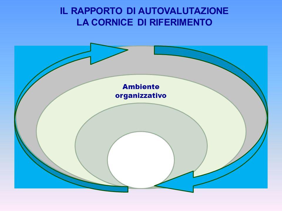 Ambiente organizzativo IL RAPPORTO DI AUTOVALUTAZIONE LA CORNICE DI RIFERIMENTO