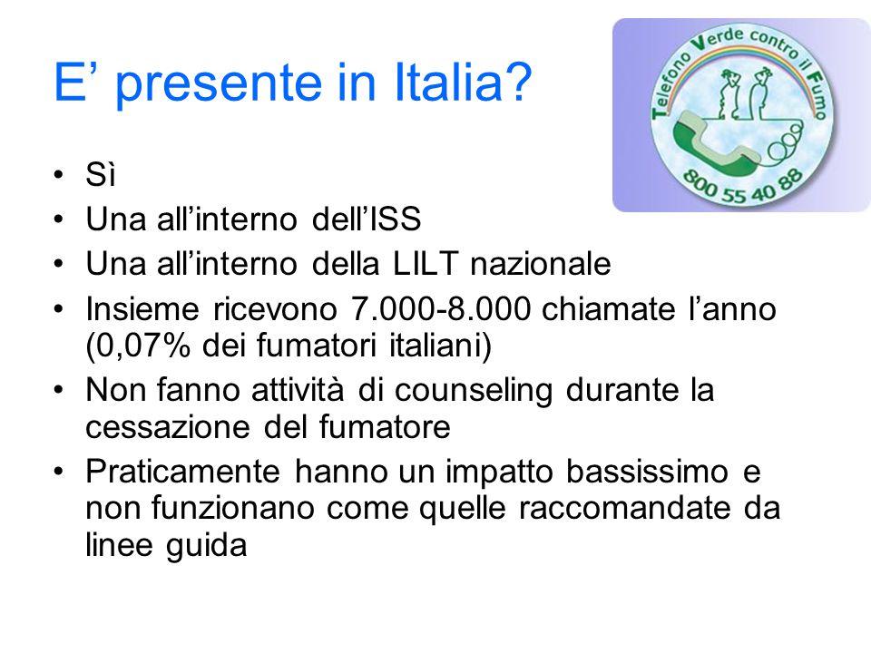E' presente in Italia.