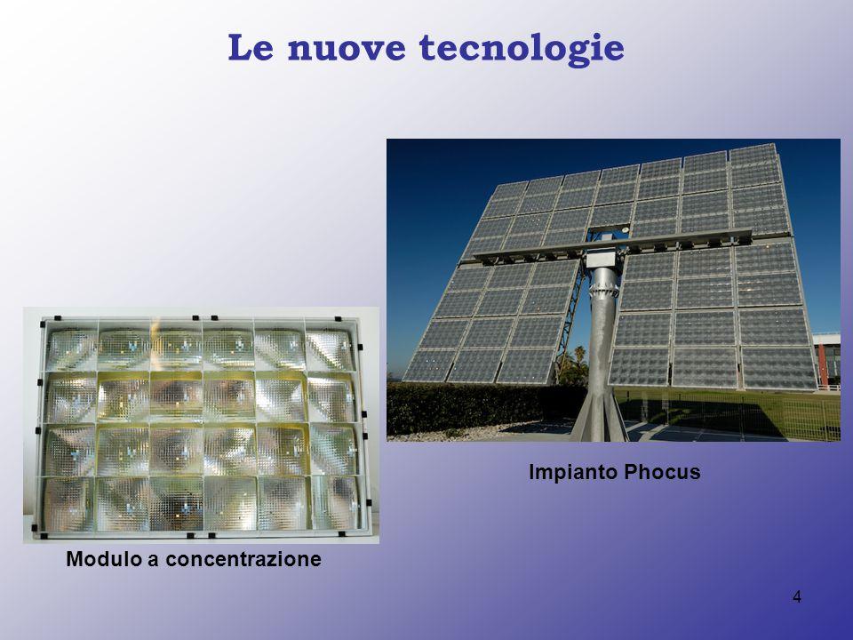 4 Le nuove tecnologie Modulo a concentrazione Impianto Phocus