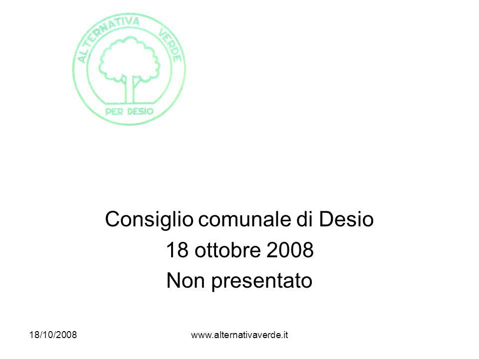 18/10/2008www.alternativaverde.it DENTRO il nucleo di antica formazione: Villa Longoni