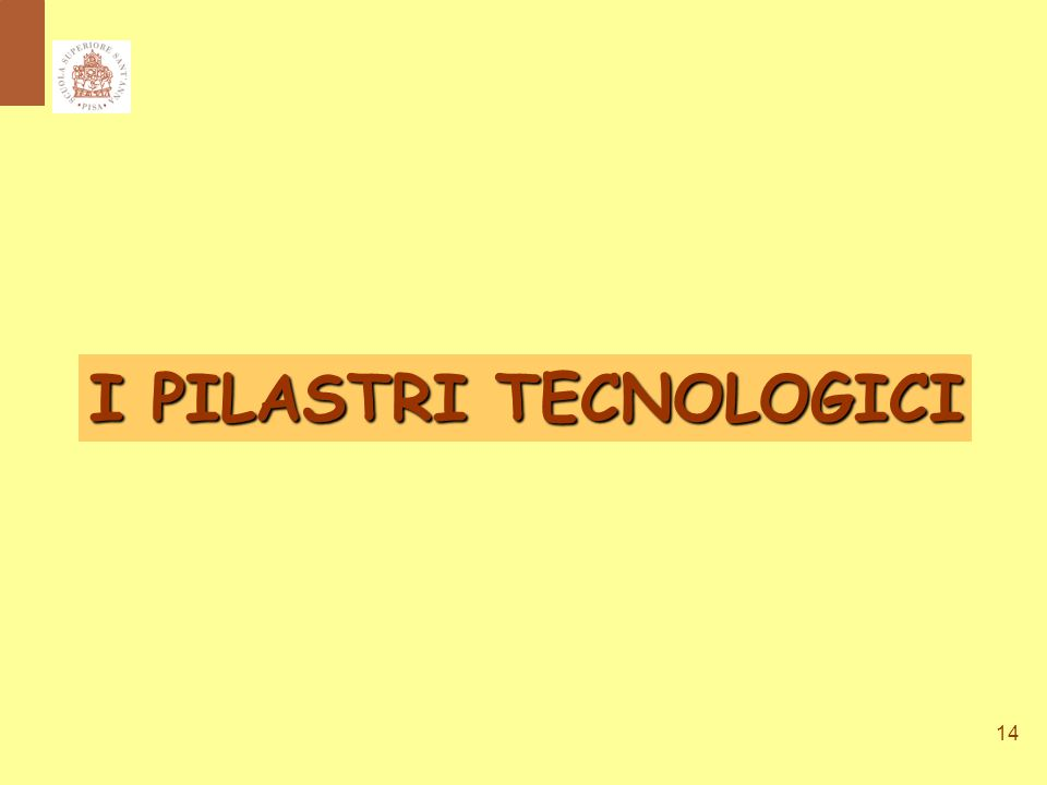 14 I PILASTRI TECNOLOGICI