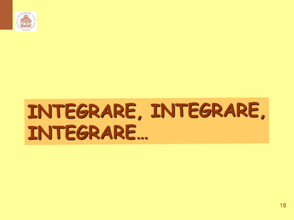 16 INTEGRARE, INTEGRARE, INTEGRARE…