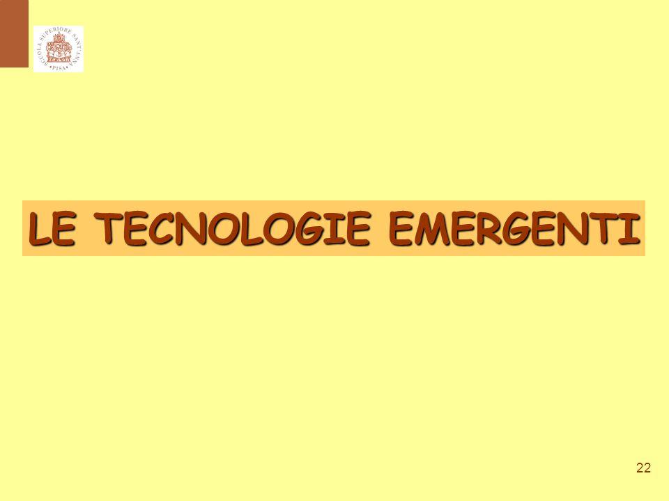 22 LE TECNOLOGIE EMERGENTI