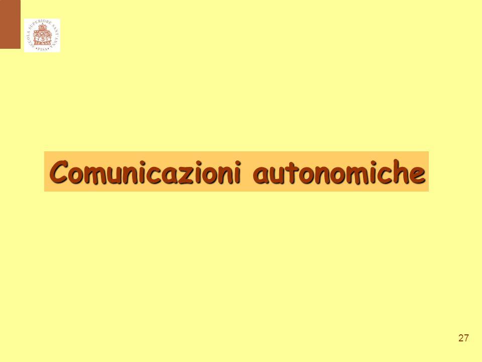 27 Comunicazioni autonomiche