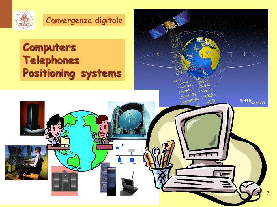 8 Progressiva interoperabilità di sistemi vari e diversi per la elaborazione, comunicazione e gestione dell'informazione Convergenza digitale