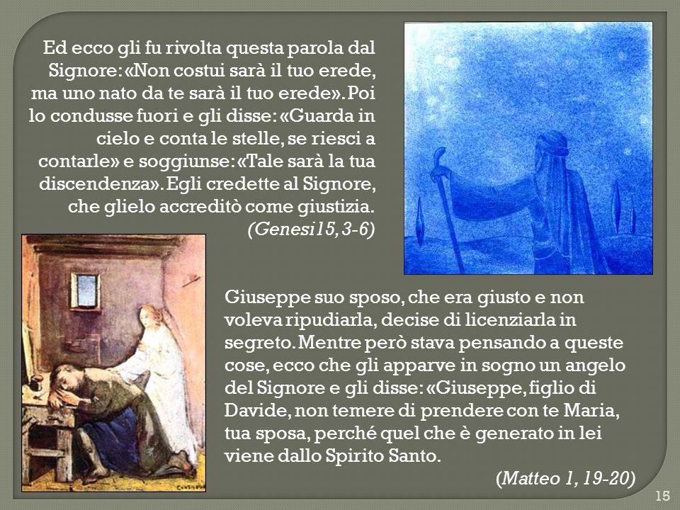 Ed ecco gli fu rivolta questa parola dal Signore: «Non costui sarà il tuo erede, ma uno nato da te sarà il tuo erede».