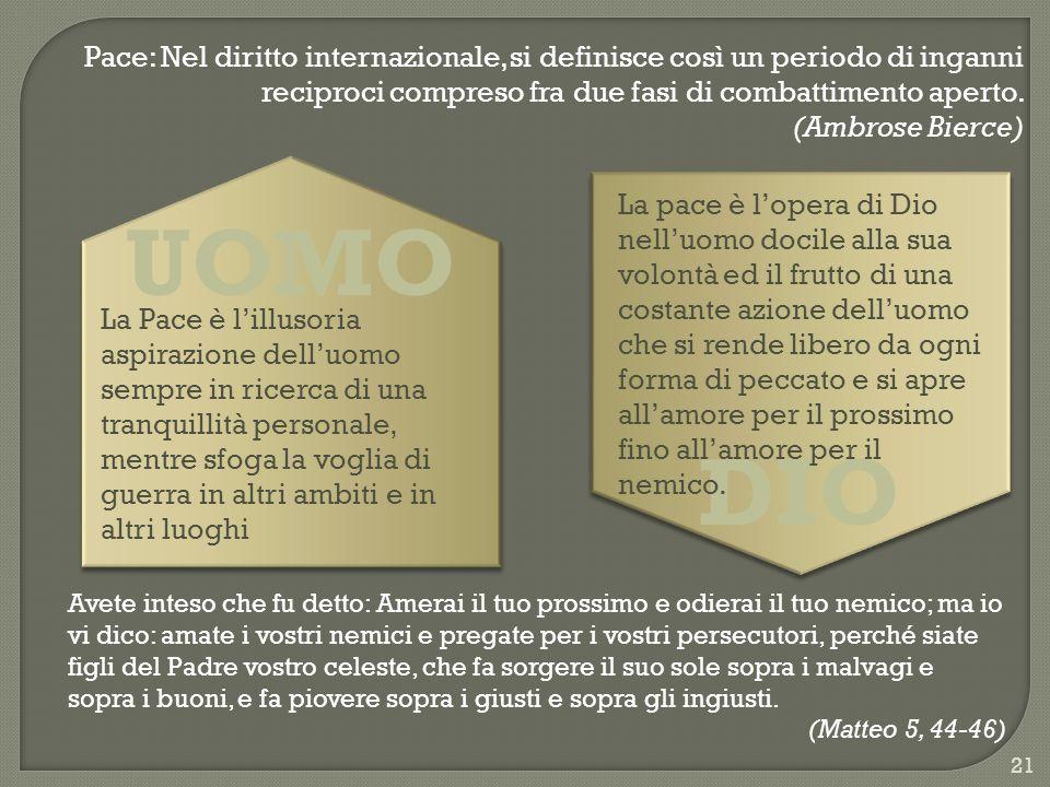 Pace: Nel diritto internazionale, si definisce così un periodo di inganni reciproci compreso fra due fasi di combattimento aperto.