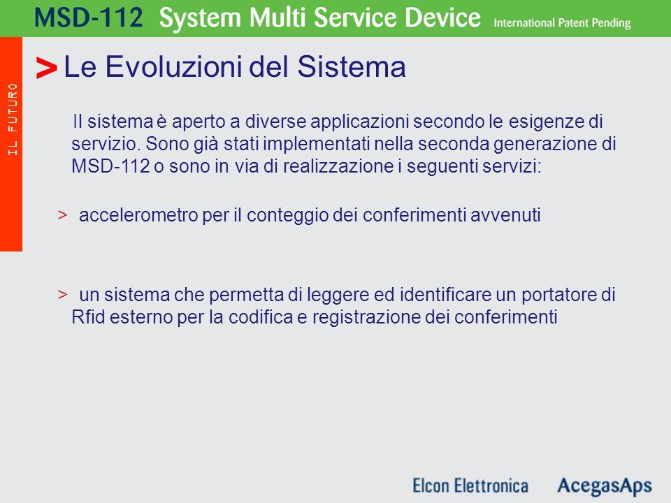 Il sistema è aperto a diverse applicazioni secondo le esigenze di servizio.
