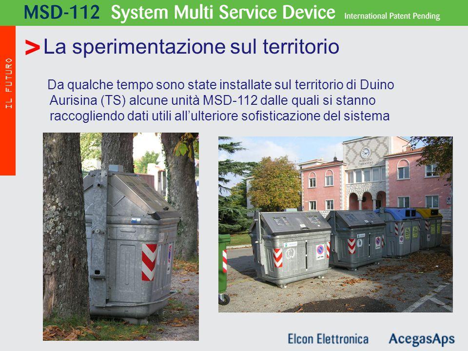 Da qualche tempo sono state installate sul territorio di Duino Aurisina (TS) alcune unità MSD-112 dalle quali si stanno raccogliendo dati utili all'ulteriore sofisticazione del sistema La sperimentazione sul territorio MSD - 112 IL FUTURO >