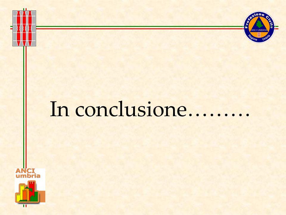 In conclusione………