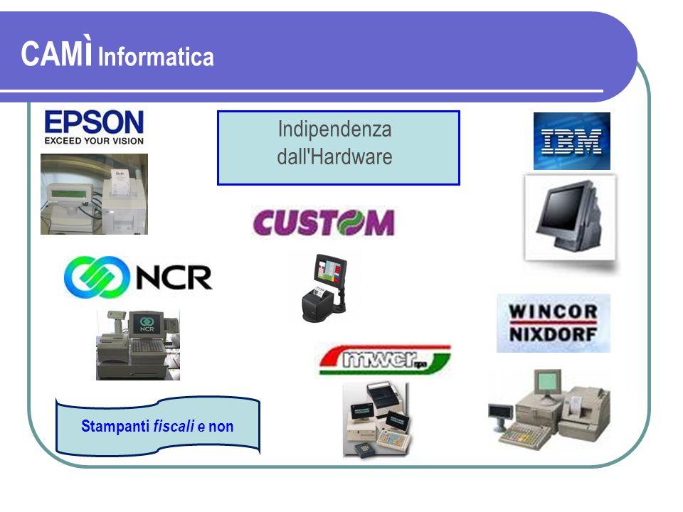 Indipendenza dall Hardware Stampanti fiscali e non CAM ì Informatica