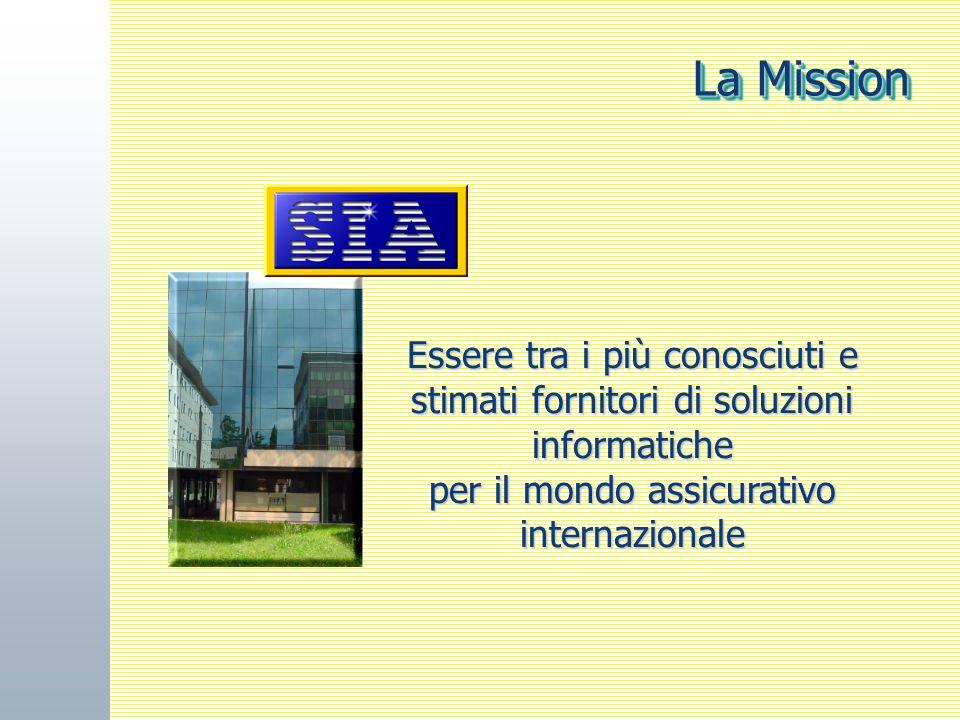 OMB -OMNIA 7 Essere tra i più conosciuti e stimati fornitori di soluzioni informatiche per il mondo assicurativo internazionale La Mission