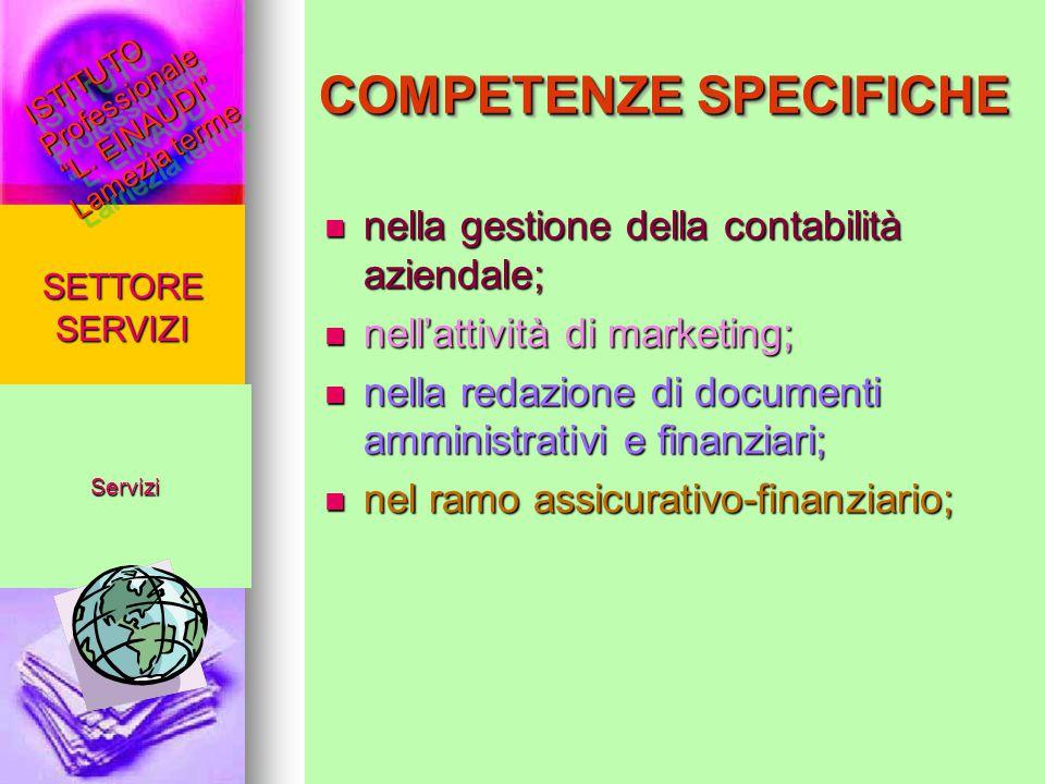 nella gestione della contabilità aziendale; nella gestione della contabilità aziendale; nell'attività di marketing; nell'attività di marketing; nella