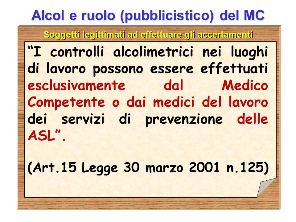 """D.ssa Anna Guardavilla Alcol e ruolo (pubblicistico) del MC Soggetti legittimati ad effettuare gli accertamenti """"I controlli alcolimetrici nei luoghi"""