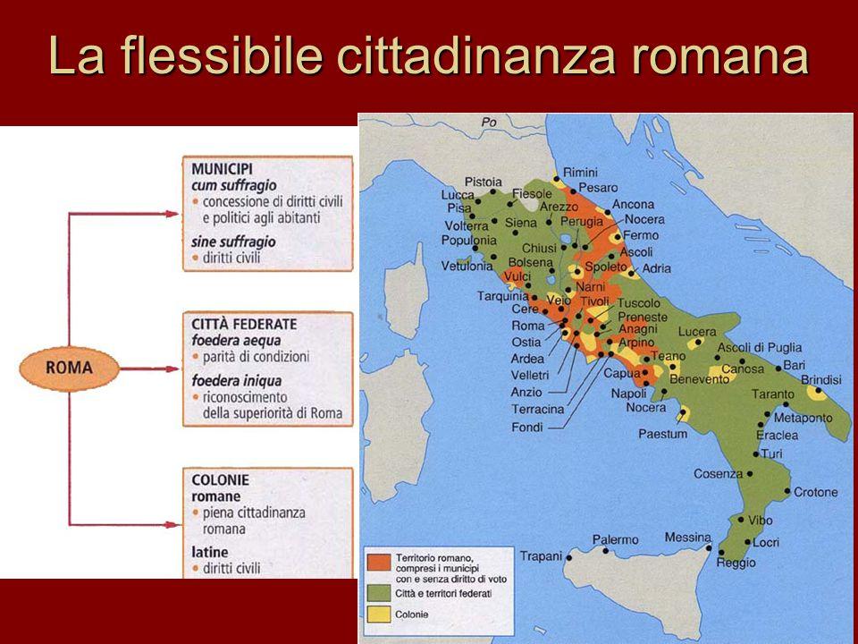 La flessibile cittadinanza romana
