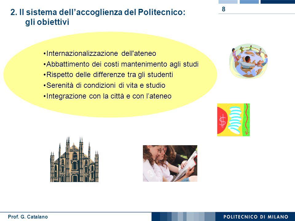 Prof.G. Catalano 9 Il sistema dell'accoglienza: le fasi 2.