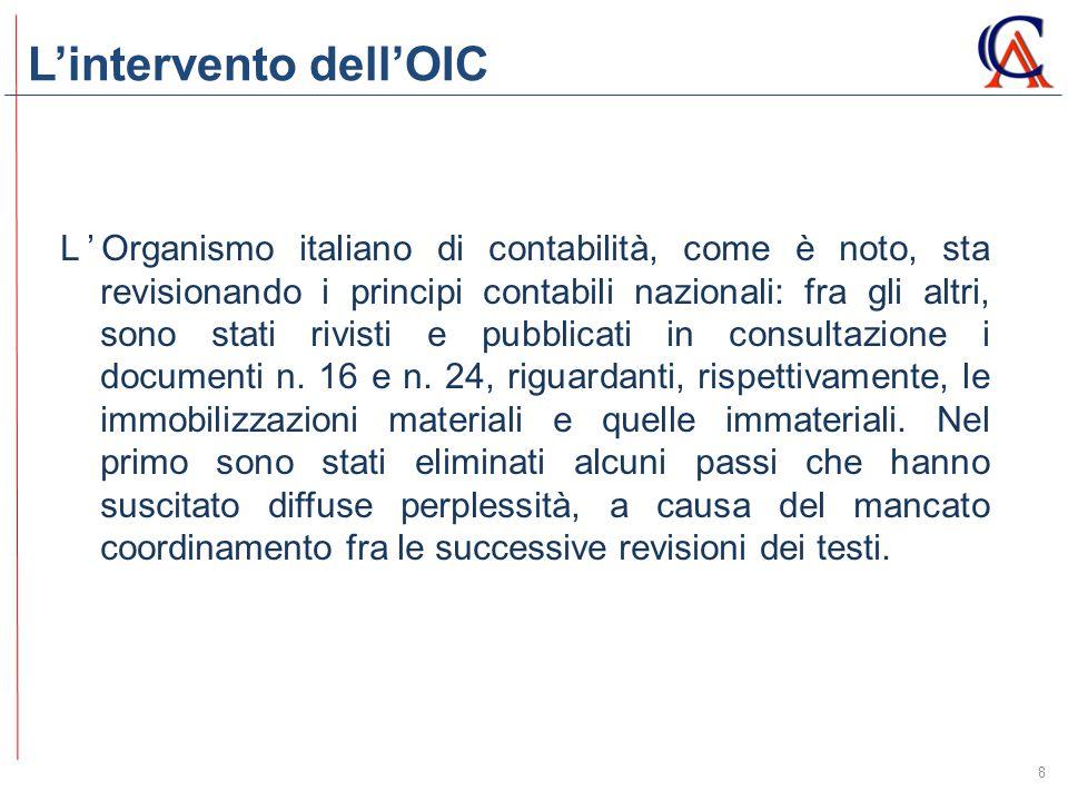 L'intervento dell'OIC 8 L'Organismo italiano di contabilità, come è noto, sta revisionando i principi contabili nazionali: fra gli altri, sono stati r