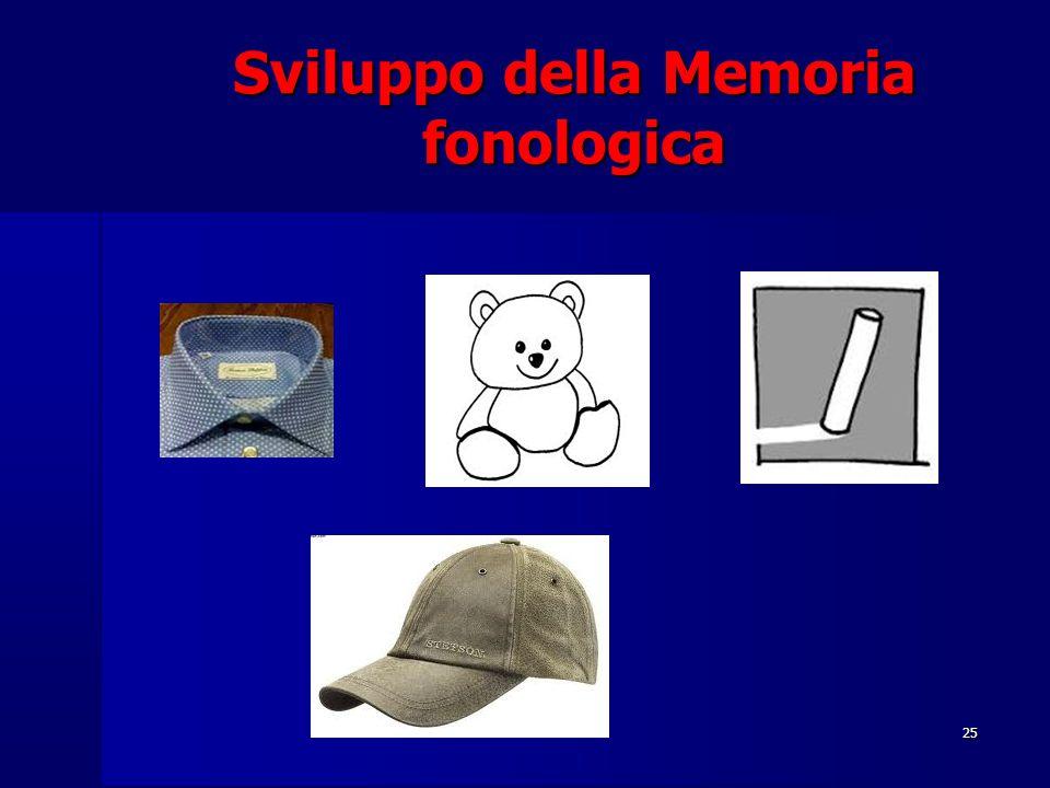 25 Sviluppo della Memoria fonologica