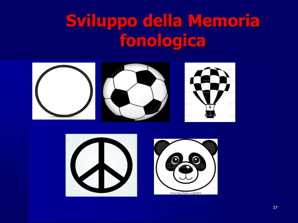 27 Sviluppo della Memoria fonologica