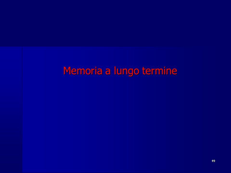49 Memoria a lungo termine
