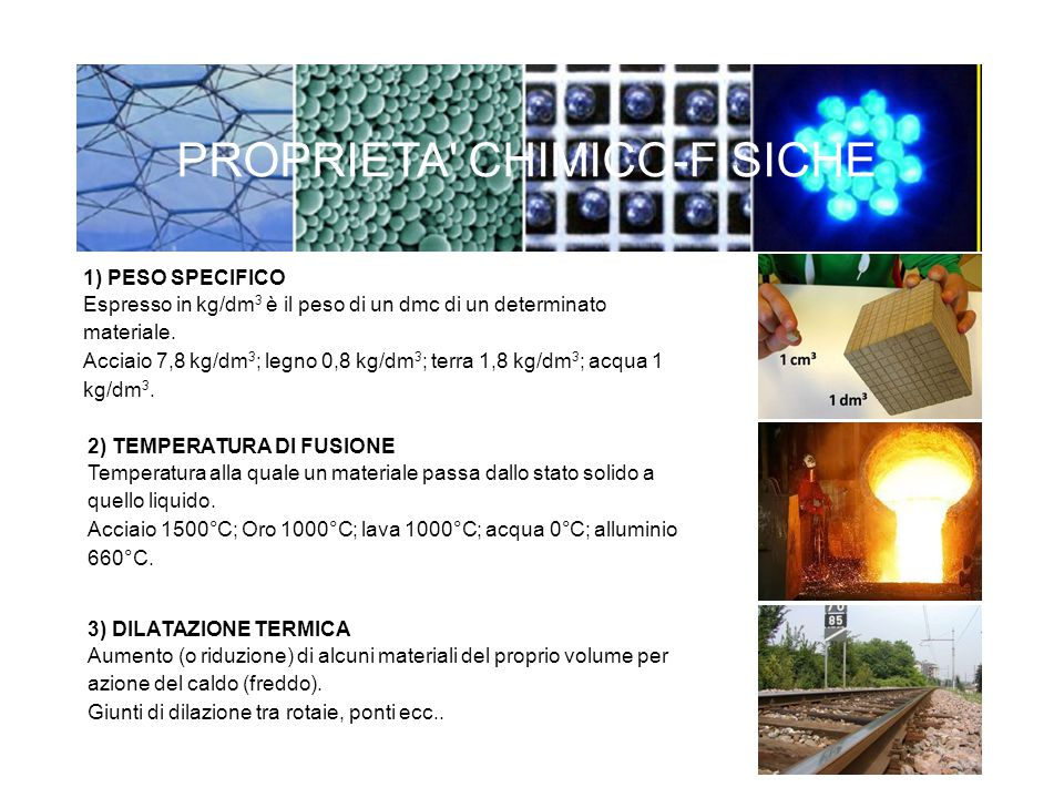 1) PESO SPECIFICO Espresso in kg/dm 3 è il peso di un dmc di un determinato materiale. Acciaio 7,8 kg/dm 3 ; legno 0,8 kg/dm 3 ; terra 1,8 kg/dm 3 ; a