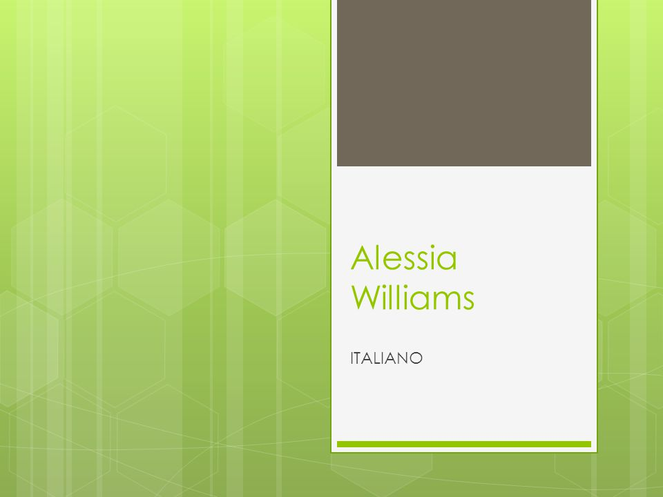 Alessia Williams ITALIANO