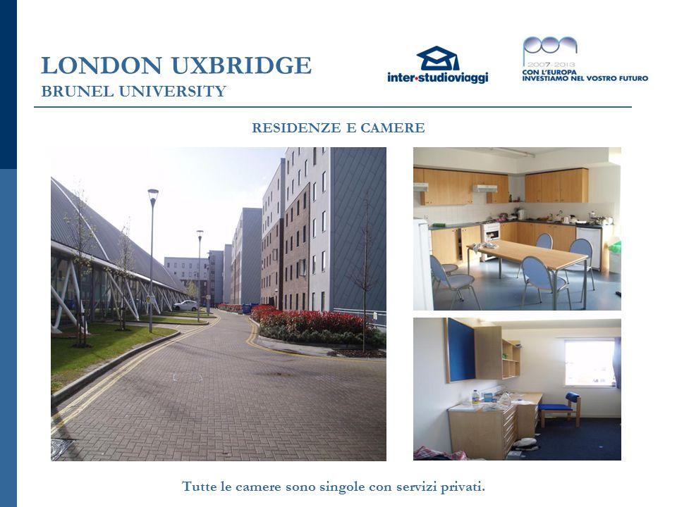 LONDON UXBRIDGE BRUNEL UNIVERSITY Tutte le camere sono singole con servizi privati.