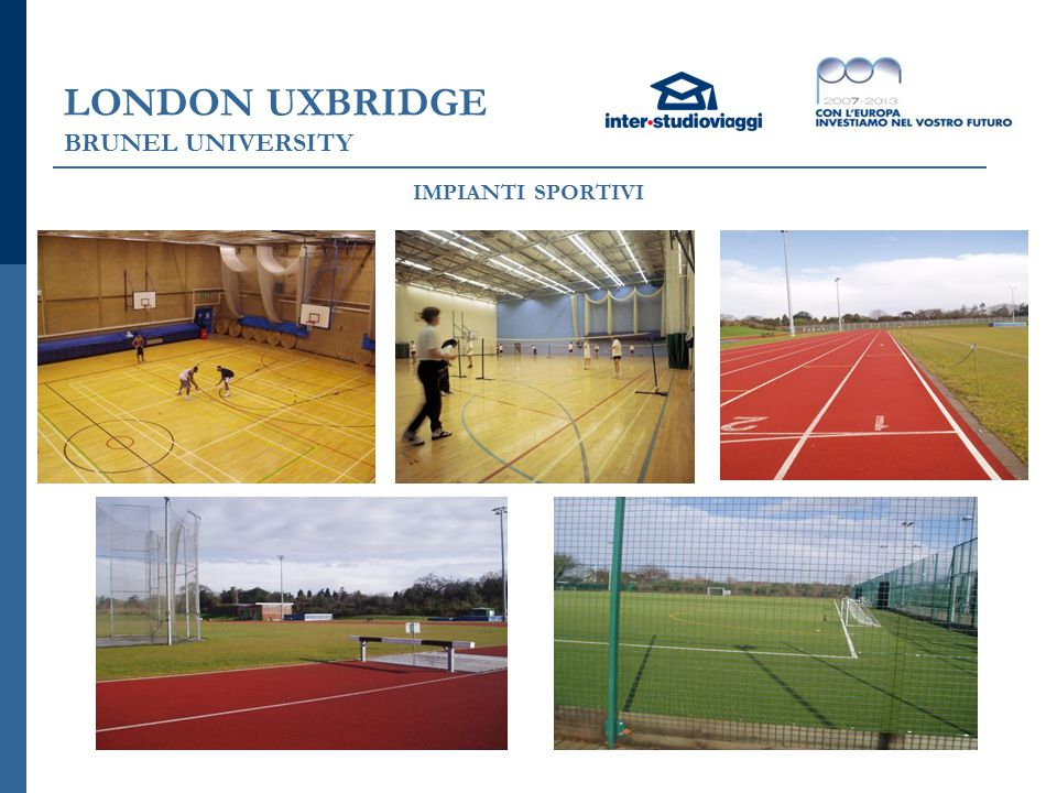 LONDON UXBRIDGE BRUNEL UNIVERSITY IMPIANTI SPORTIVI