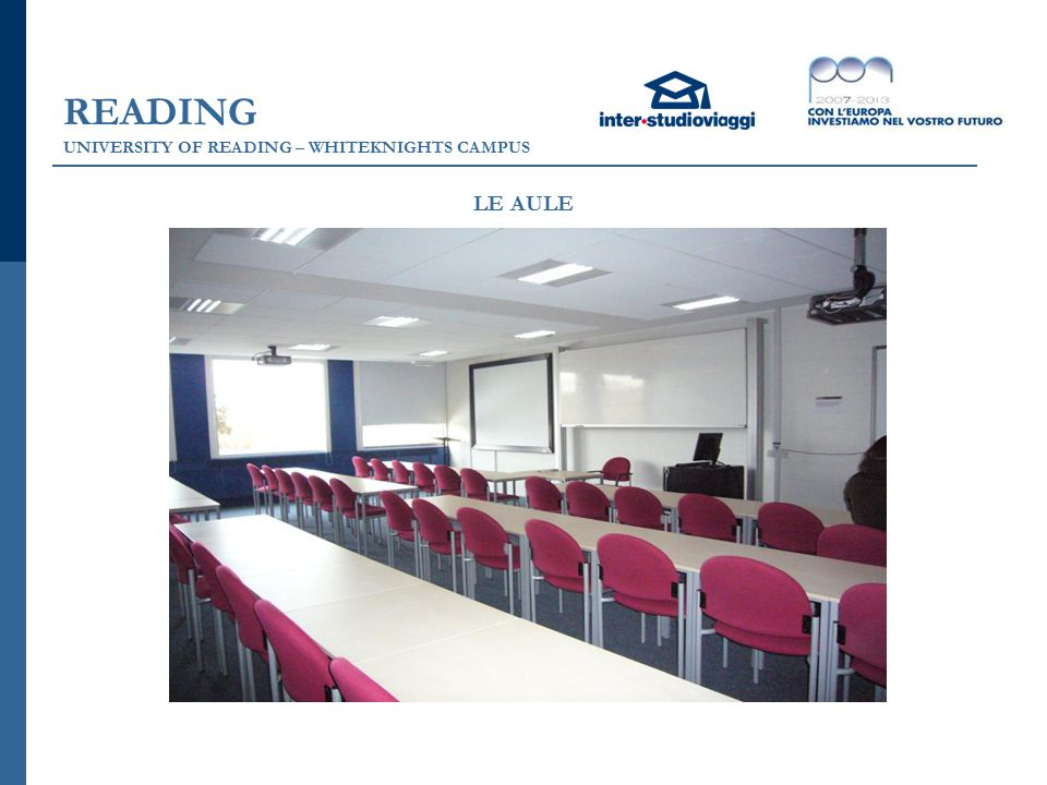READING UNIVERSITY OF READING – WHITEKNIGHTS CAMPUS LE AULE