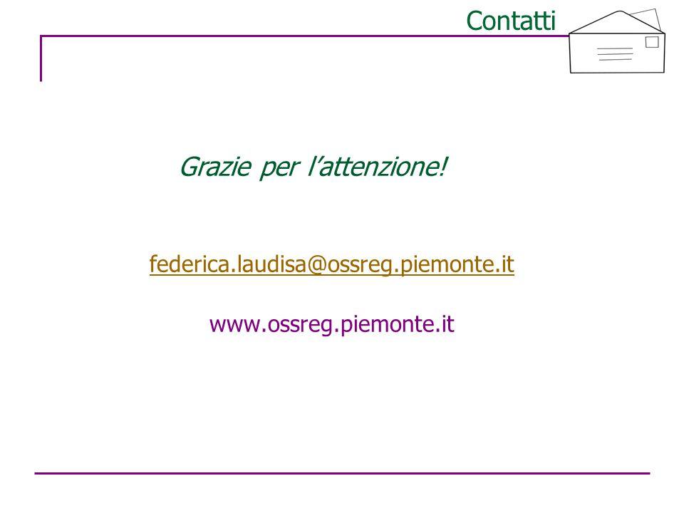 15 Contatti federica.laudisa@ossreg.piemonte.it www.ossreg.piemonte.it Grazie per l'attenzione!