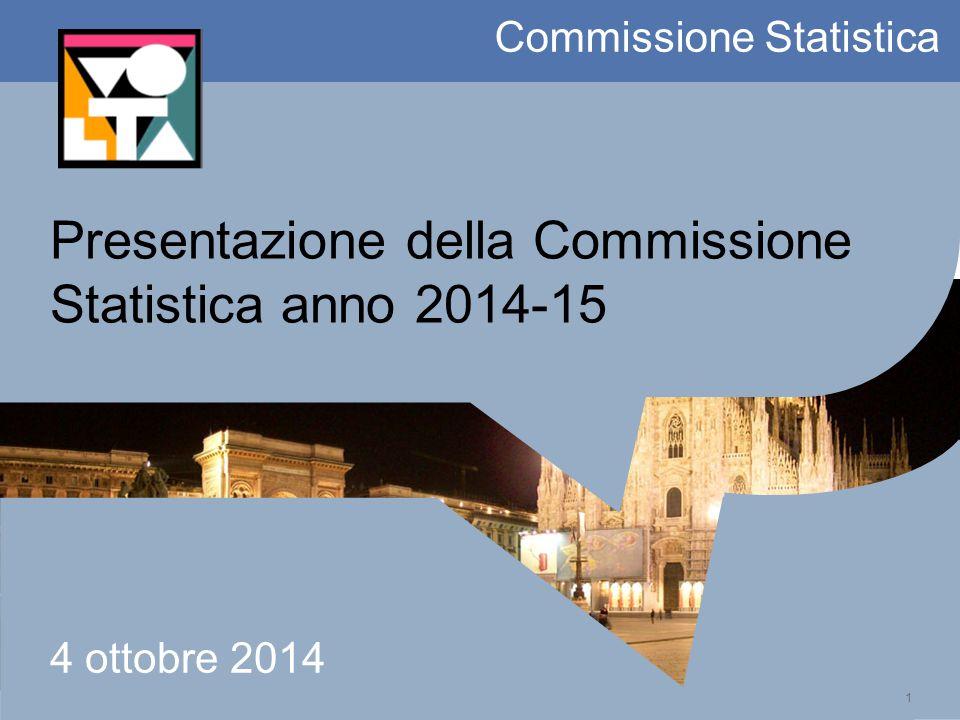 1 Commissione Statistica Presentazione della Commissione Statistica anno 2014-15 4 ottobre 2014